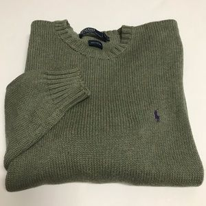 Polo Ralph Lauren Crewneck Sweater Green Large